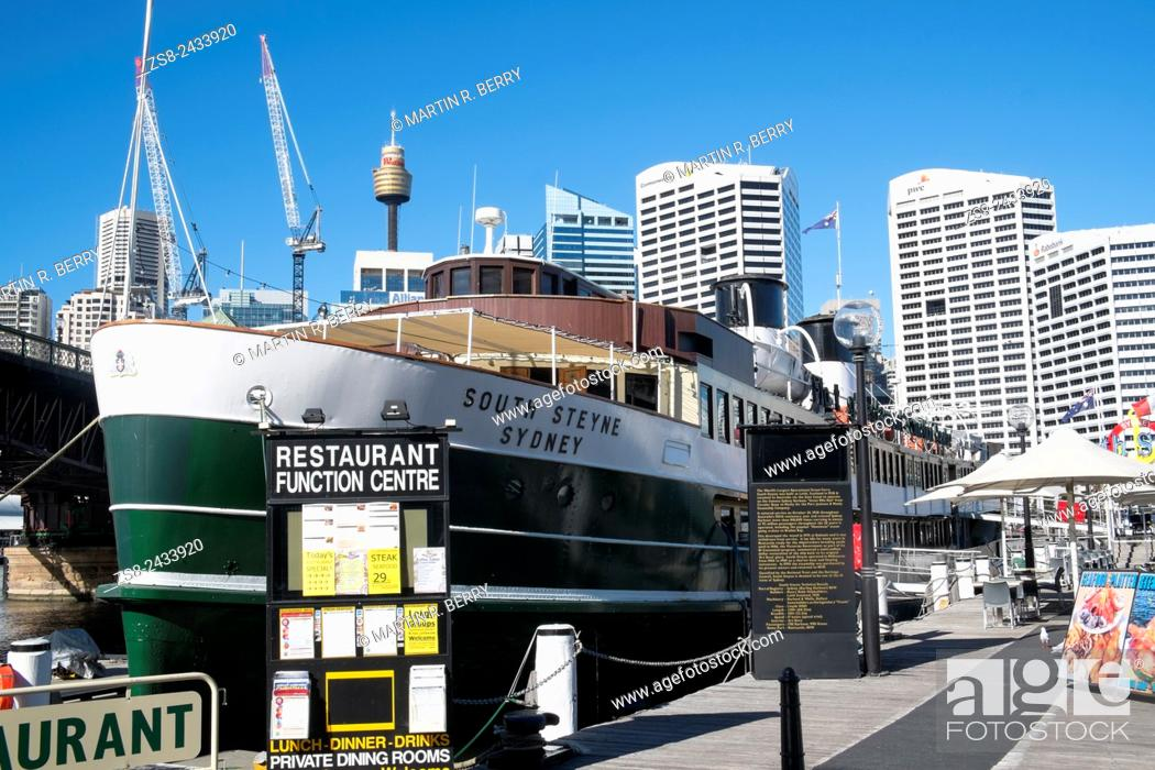 Stock Photo: South Steyne original Manly Ferry now a restaurant in Sydney Darling Harbour.