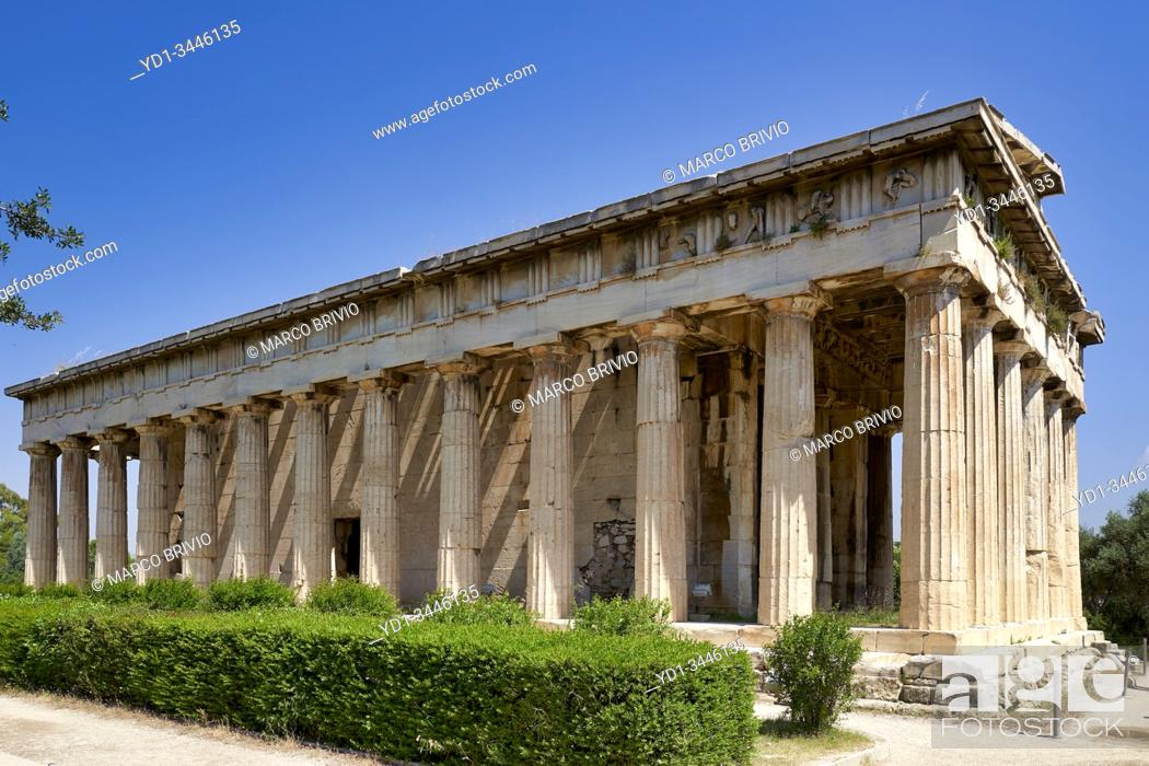 Stock Photo: Athens Greece. The Temple of Hephaestus at the Ancient Agora.