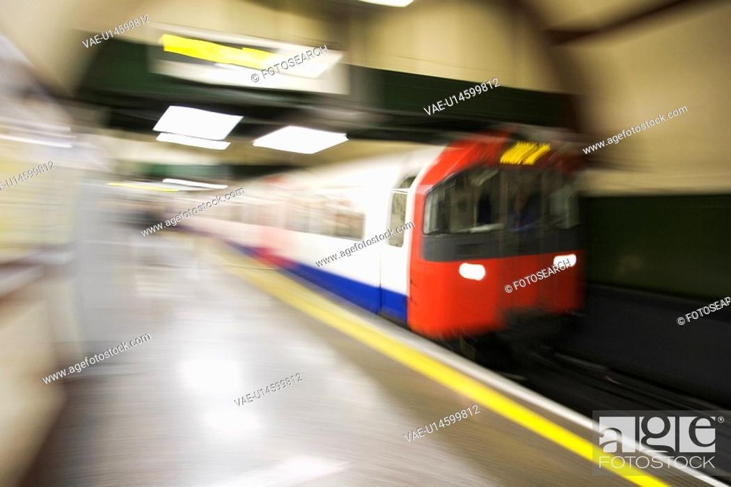 Stock Photo: Blurred, Commute, Departing, Indoors.