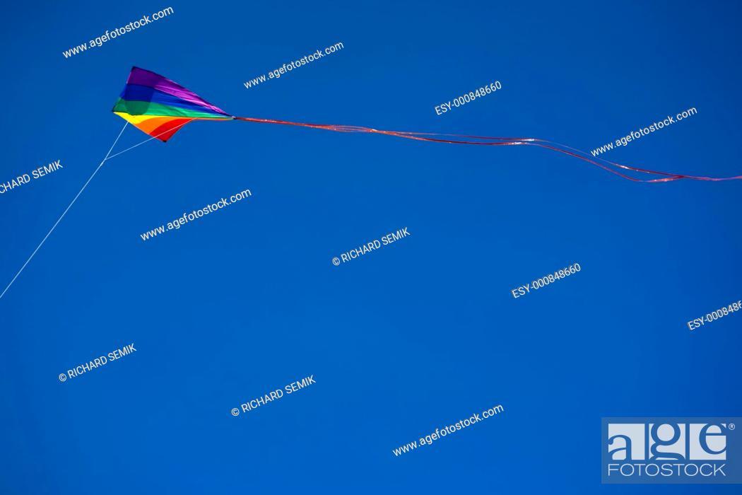 Stock Photo: flying kite.