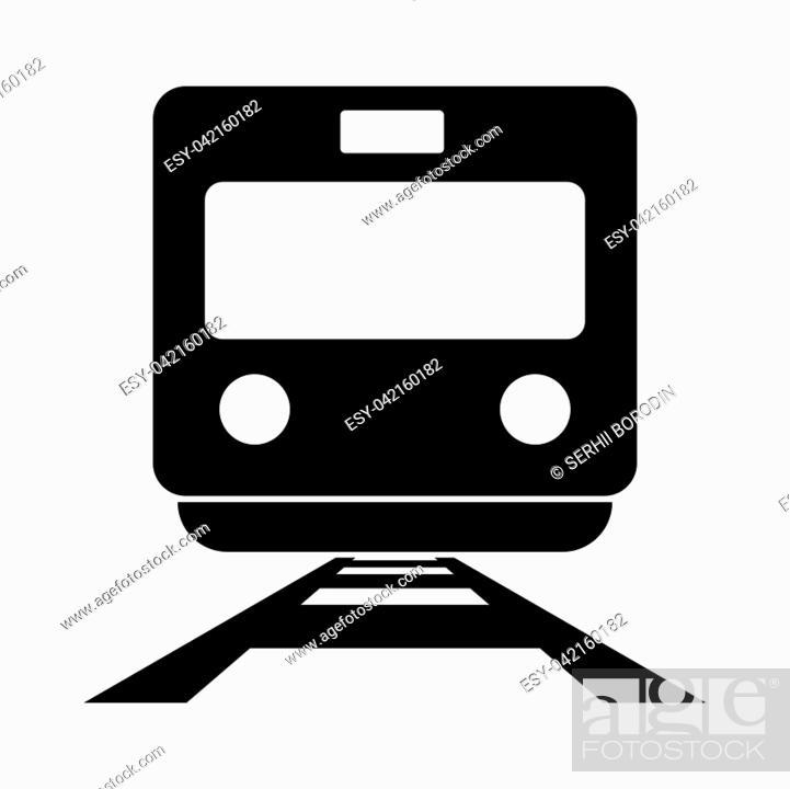 Stock Vector: Train it is black color icon .
