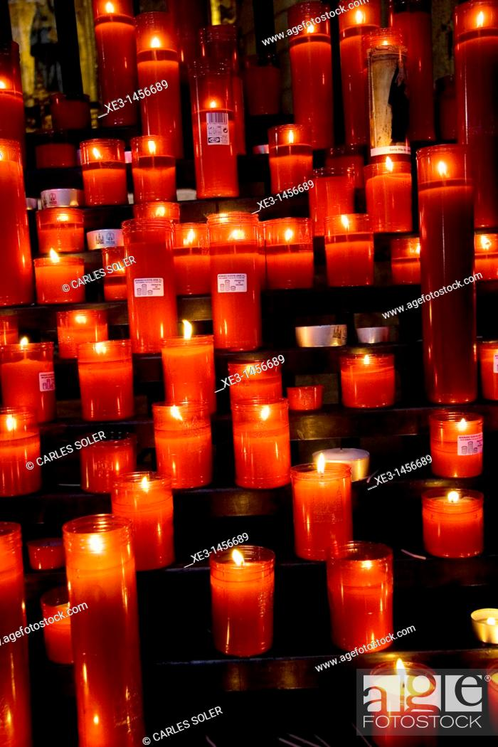 Stock Photo: Red candles.
