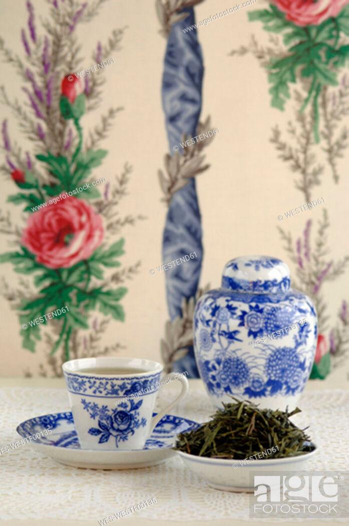 Stock Photo: China green tea, close-up.
