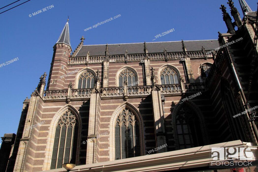 Stock Photo: Nieuwe Kerk Church Amsterdam Holland.