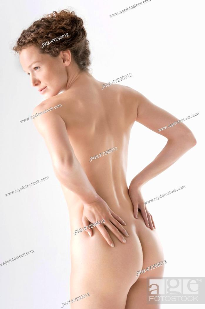 Stock Photo: Rear view of a naked woman.