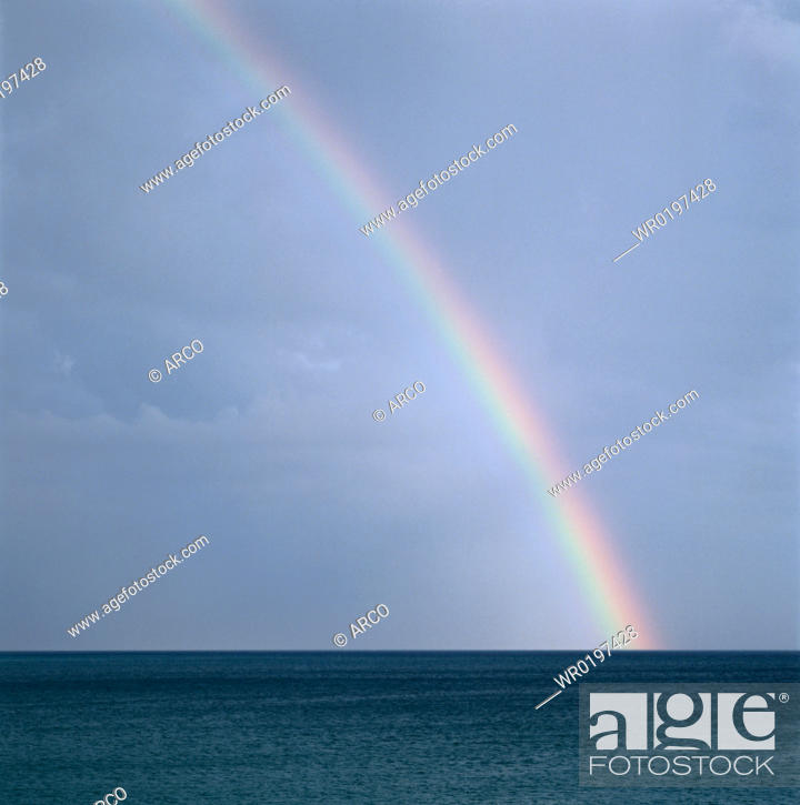 Stock Photo: Rainbow, over, the, atlantic, Algarve, Portugal.