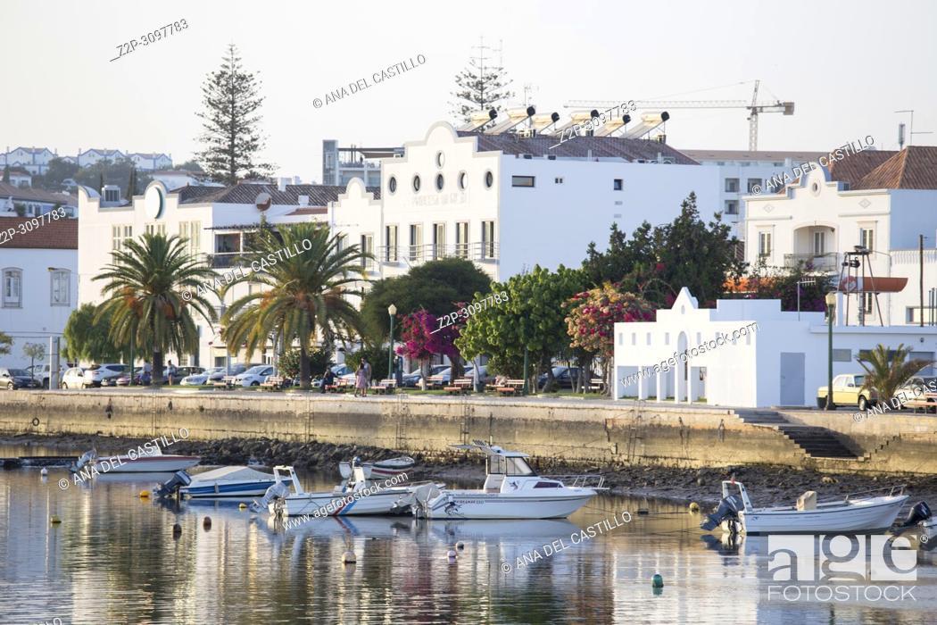 Stock Photo: Tavira town Algarve South of Portugal on October 15, 2017 Gilao river.