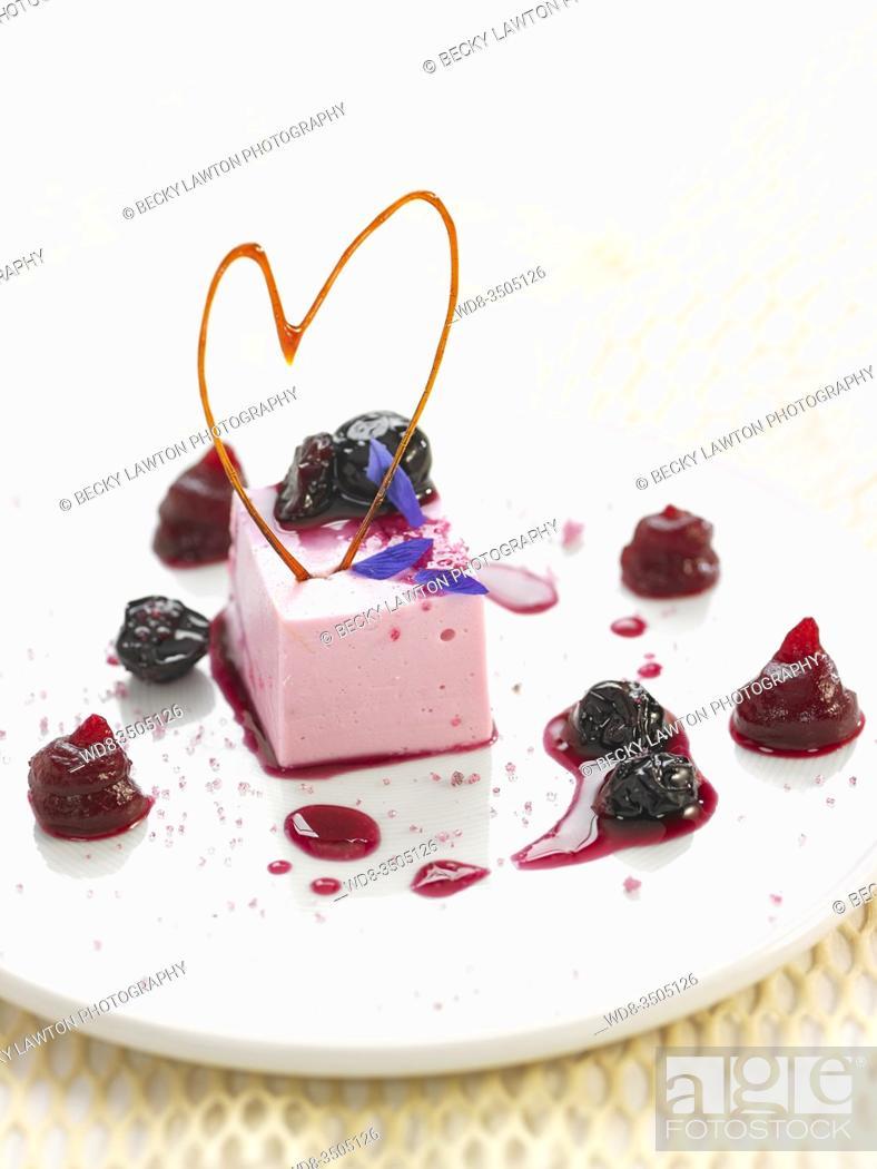 Stock Photo: mousse de yogur.