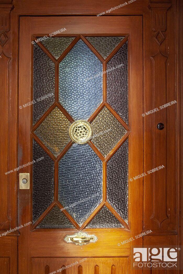 Stock Photo: Interior Glass Door.