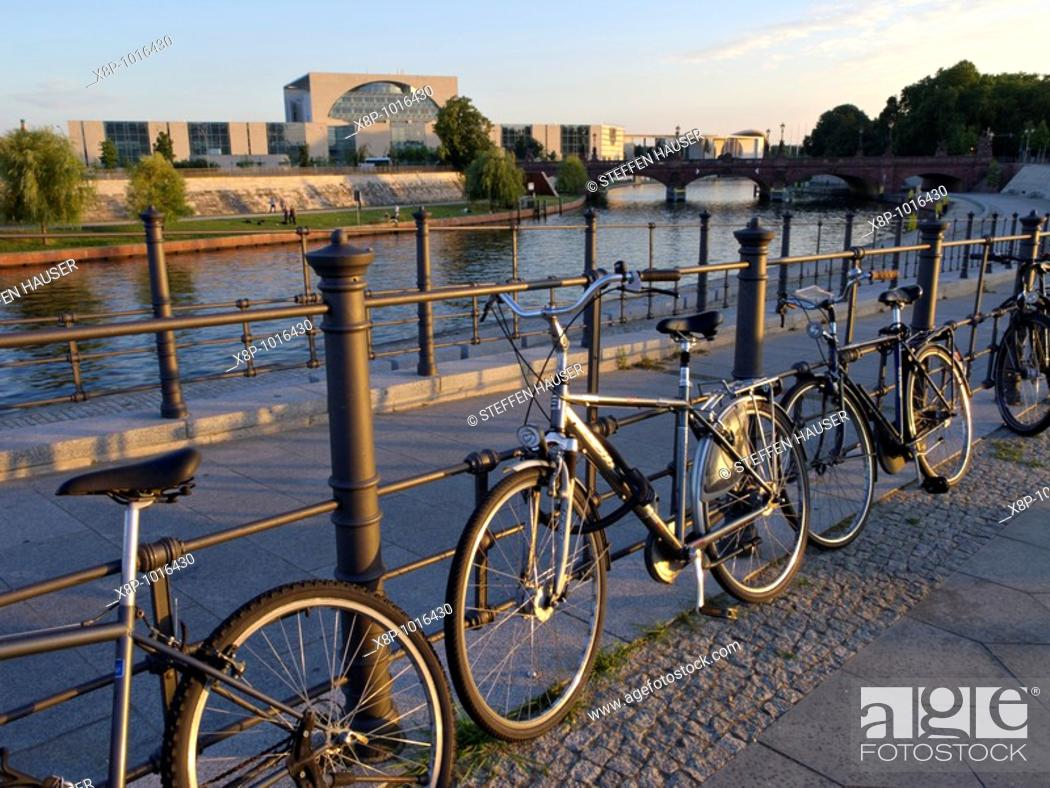Stock Photo: Federal Chancellery at Spree River, Berlin, Germany.