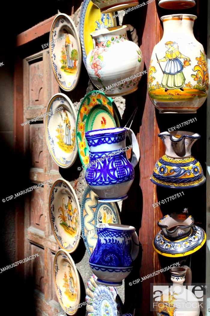 Stock Photo: Souvenir from old town of Segovia, Spain.