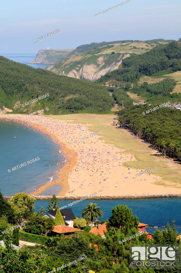 Stock Photo: Rodiles Beach Asturias, Spain.