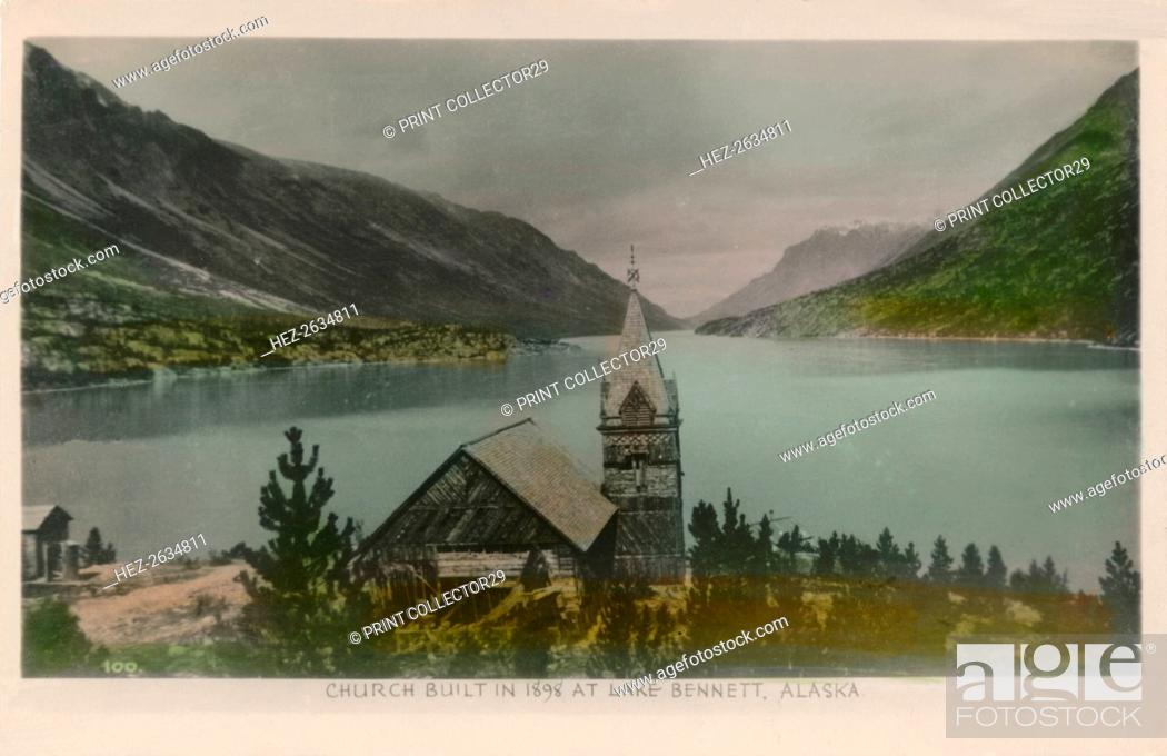 Photo de stock: 'Church Built in 1898 at Lake Bennett, Alaska', c1910. Artist: Unknown.