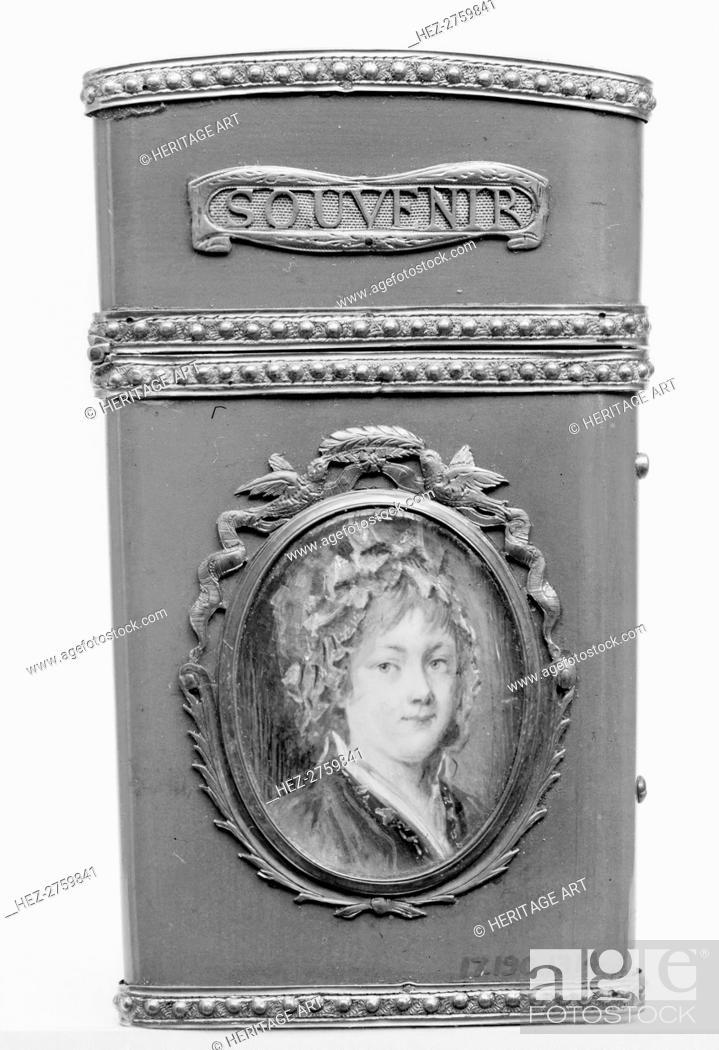 Photo de stock: Souvenir with portrait of a woman, 1782-83. Creator: Unknown.