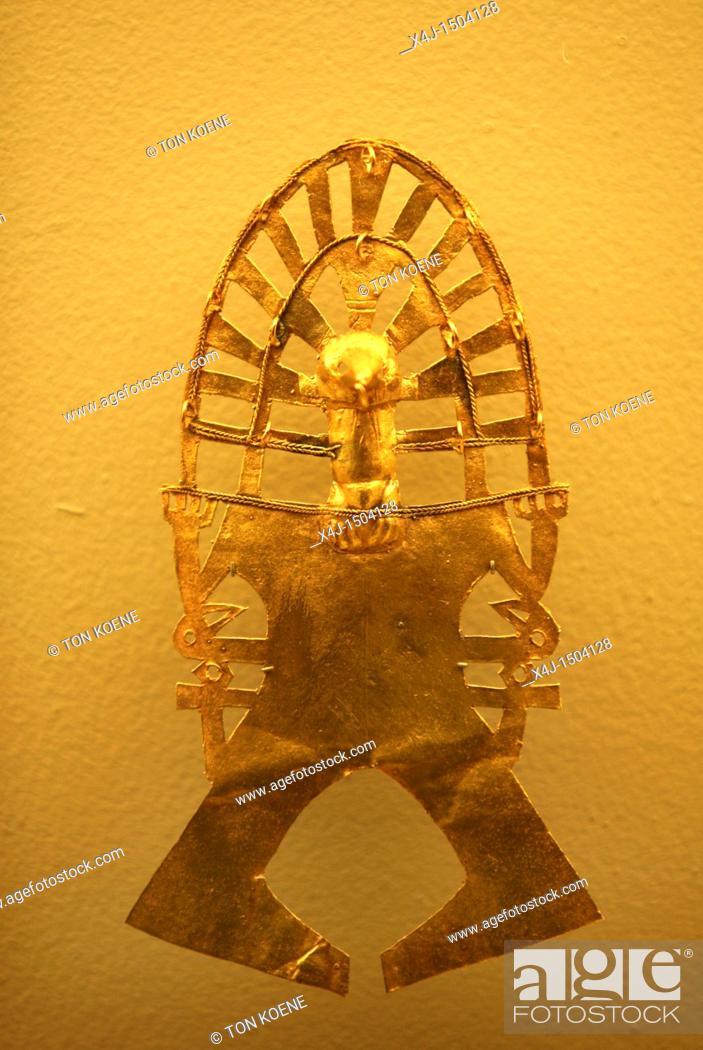 Stock Photo - Inca Jewelry, Gold museum Bogota, Colombia