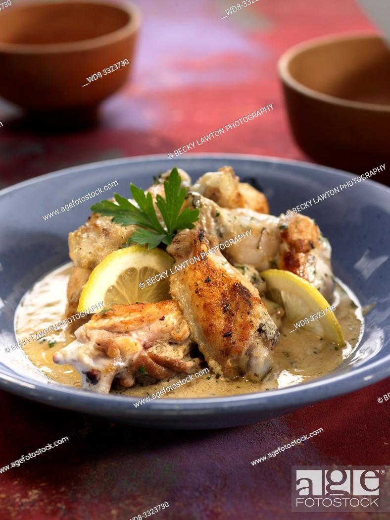 Imagen: pollo al horno con yogur.