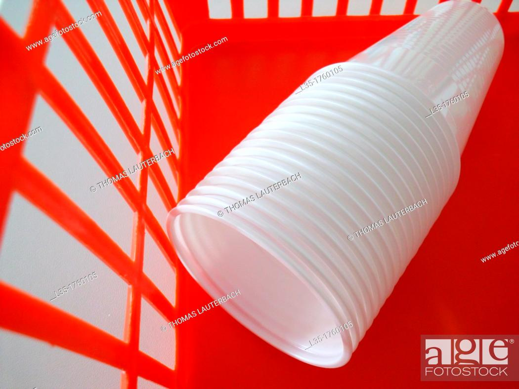 Stock Photo: Plastic glasses.