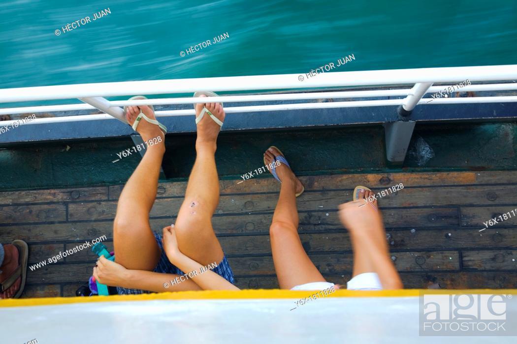 Stock Photo: Bosphorus sailers.
