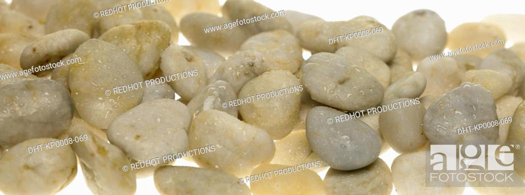 Stock Photo: Pile of white Stones.