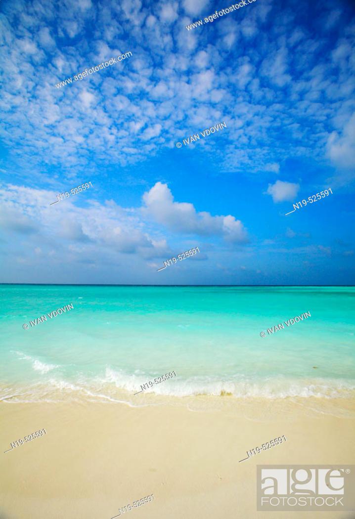 Stock Photo: Beach, Maldives, Indian ocean.