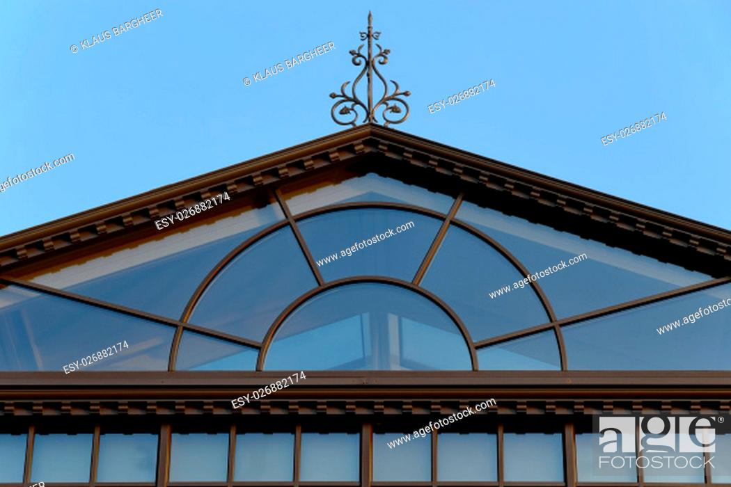 Stock Photo: glasshouse in the pavilion style.