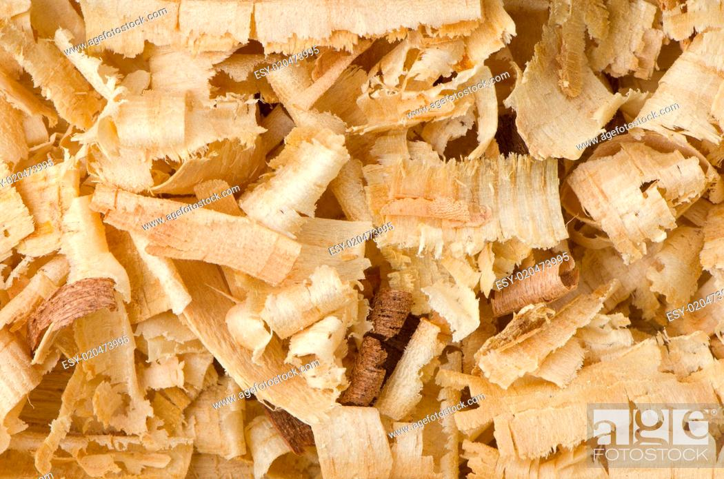 Stock Photo: Wood shavings.