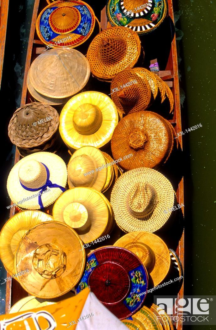 Stock Photo: Damnoen Saduak, Swimming market Thailand.