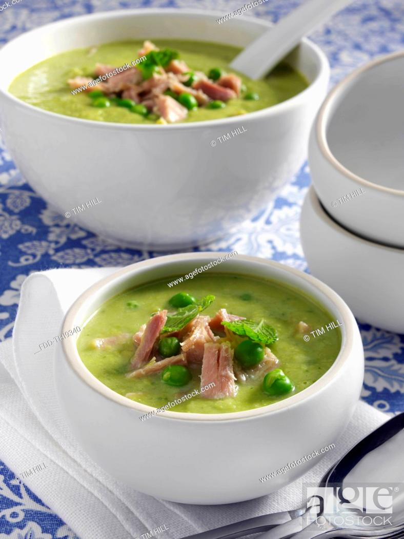 Imagen: Pea and ham soup.