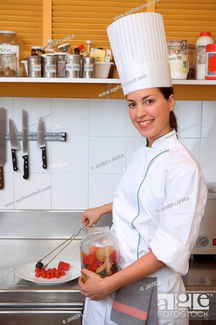 Stock Photo: Candied fruits. Luis Irizar cooking school. Donostia, Gipuzkoa, Basque Country, Spain.