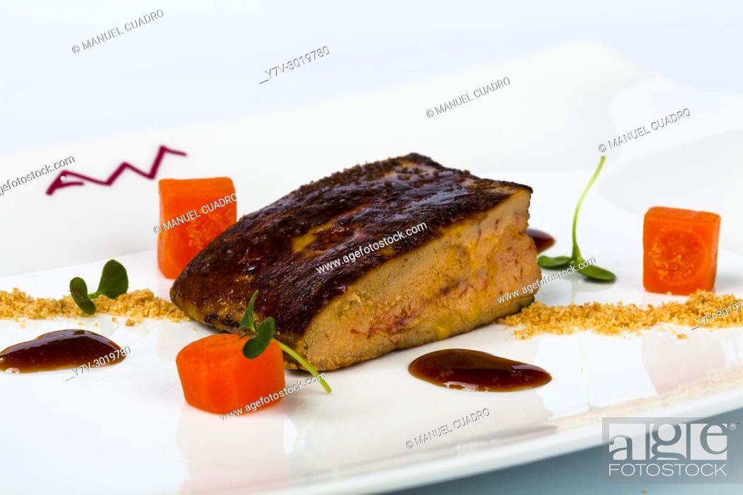Stock Photo: Foie a la brasa / Chargrilled foie.