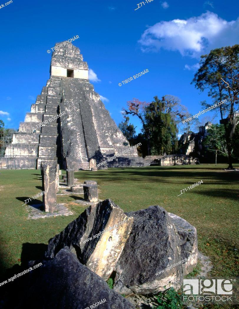 Stock Photo: Guatemala Tikal.