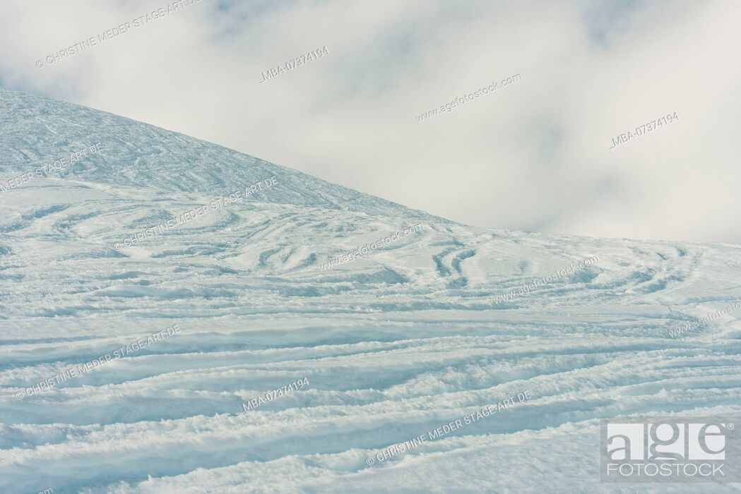 Stock Photo: Ski slope, winter, ski area.