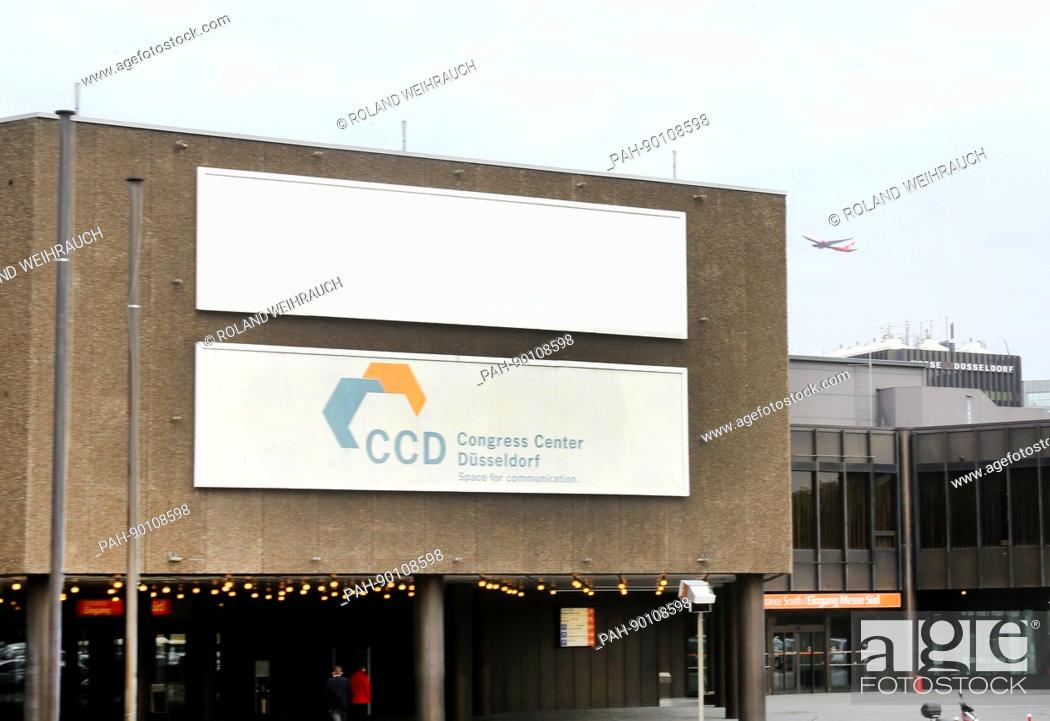Stock Photo: The Congress Center Duesseldorf (CCD), photographed in Duesseldorf, Germany, 24 April 2017. The Loveparade catastrophe in Duisburg will be revised in a criminal.