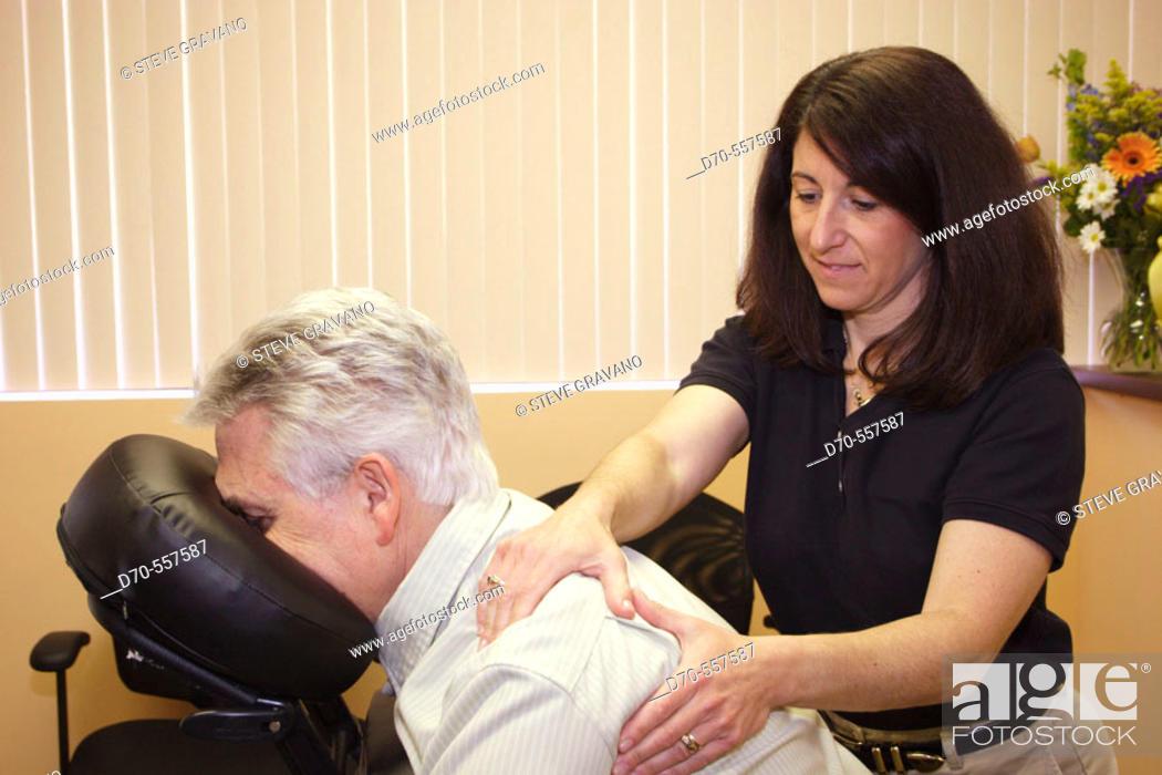 Stock Photo: Massage therapy.