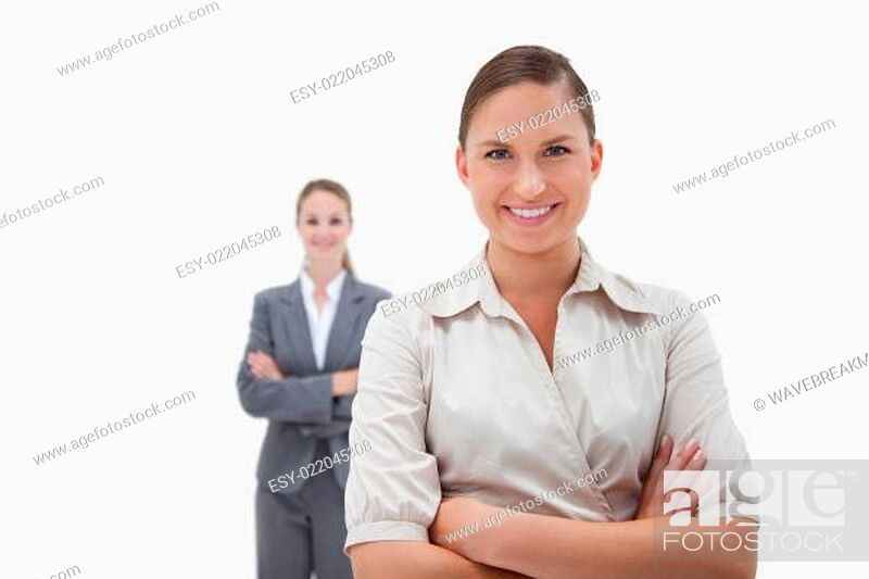 Stock Photo: Smiling businesswomen posing.