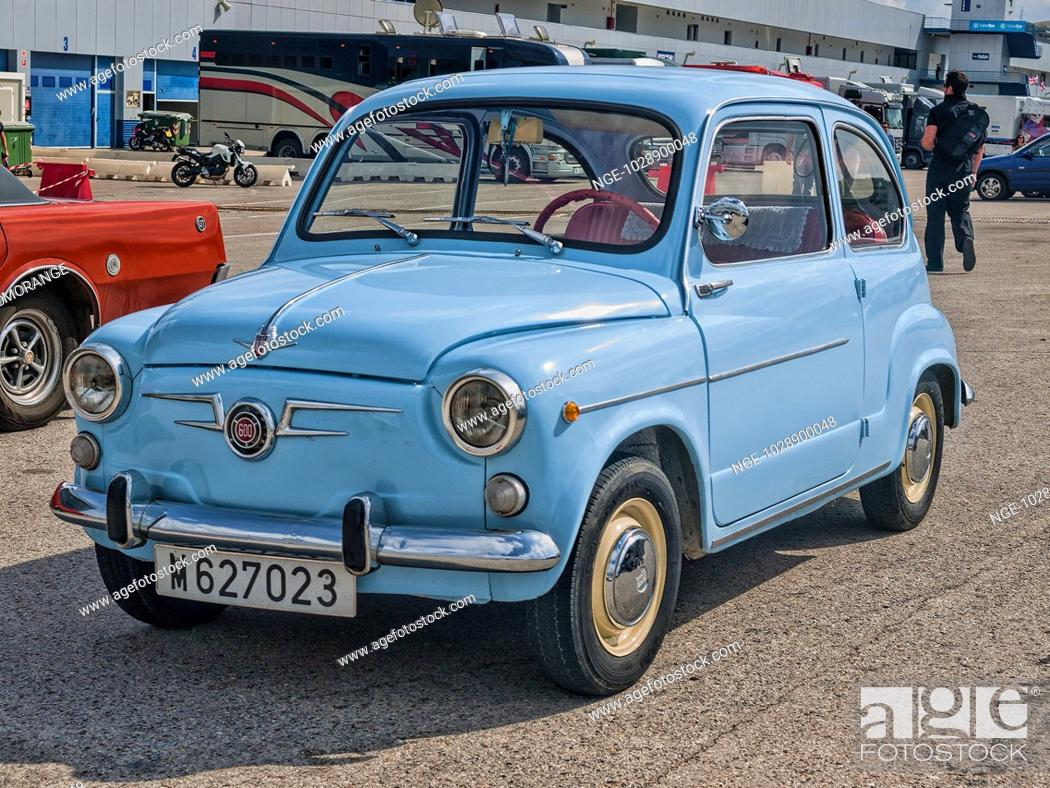 Jerez Spain October 12 2013 Seat 600 This Spanish Car Was A