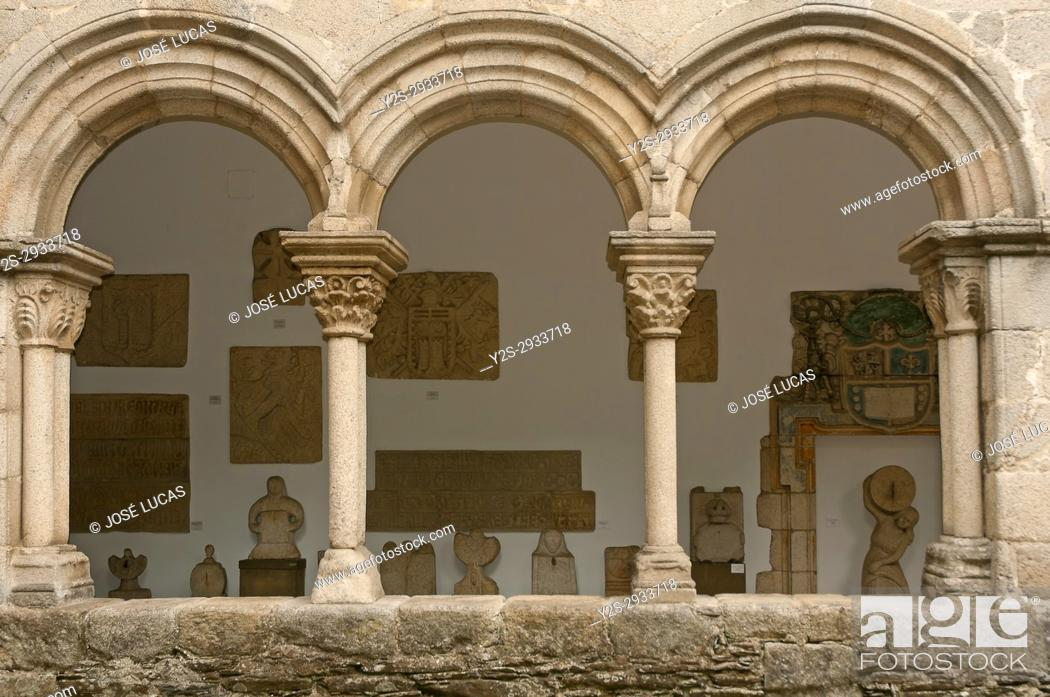 Stock Photo: Provincial museum - cloister, Lugo, Region of Galicia, Spain, Europe.