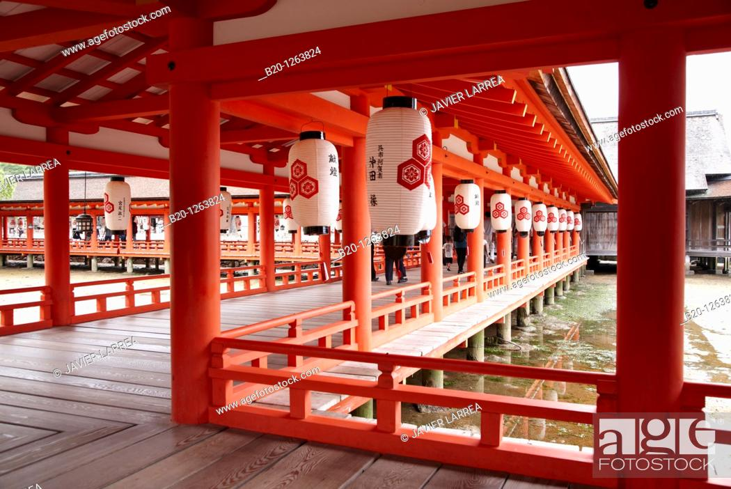 Stock Photo: Itsukushima Shrine, Miyajima island, Hiroshima, Japan.