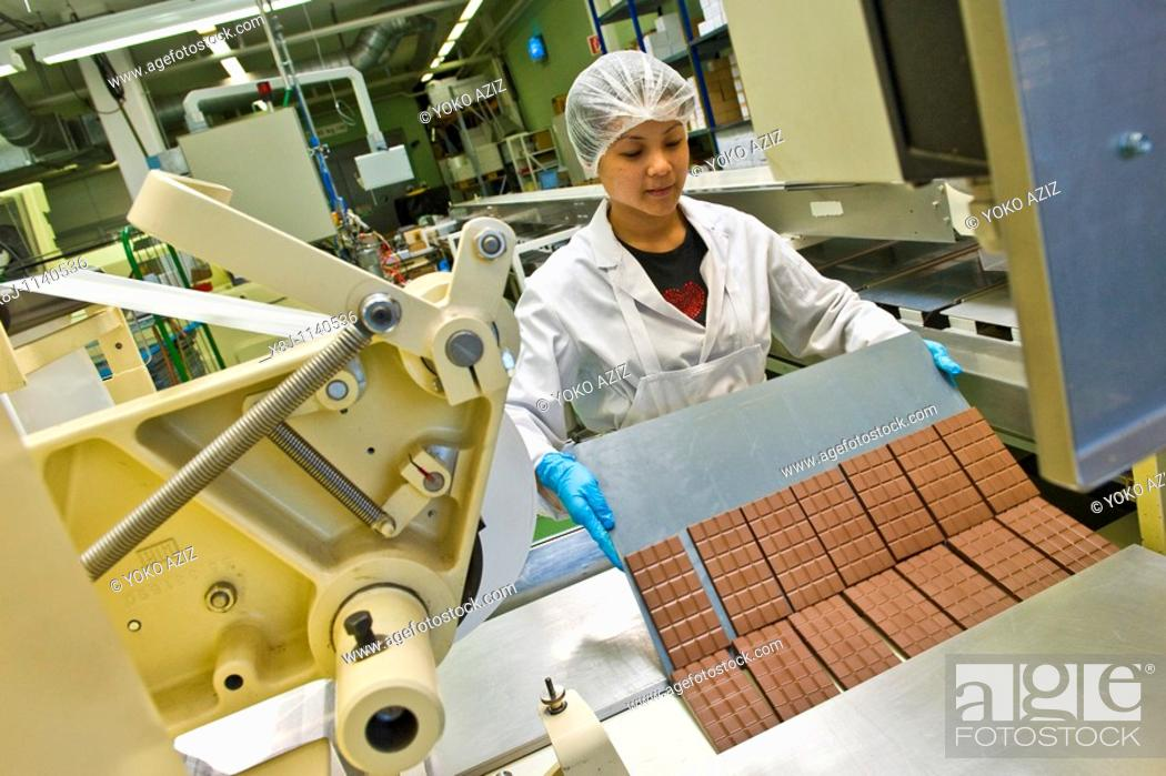 Stock Photo: Chocolate factory Stella, Giubiasco, Canton Ticino, Switzerland.