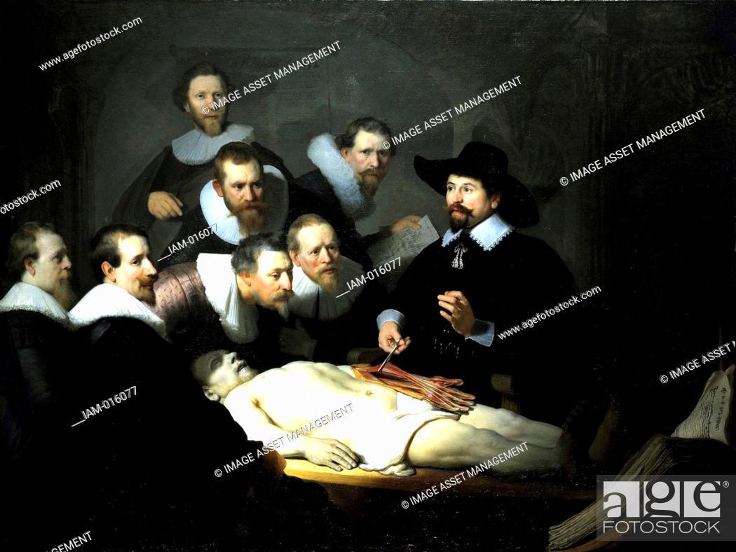 Rembrandt van Rijn 1606 – 1669 The Anatomy Lesson of Dr. Nicolaes ...
