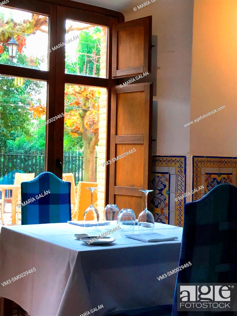 Stock Photo: Restaurant. Chinchon, Madrid province, Spain.