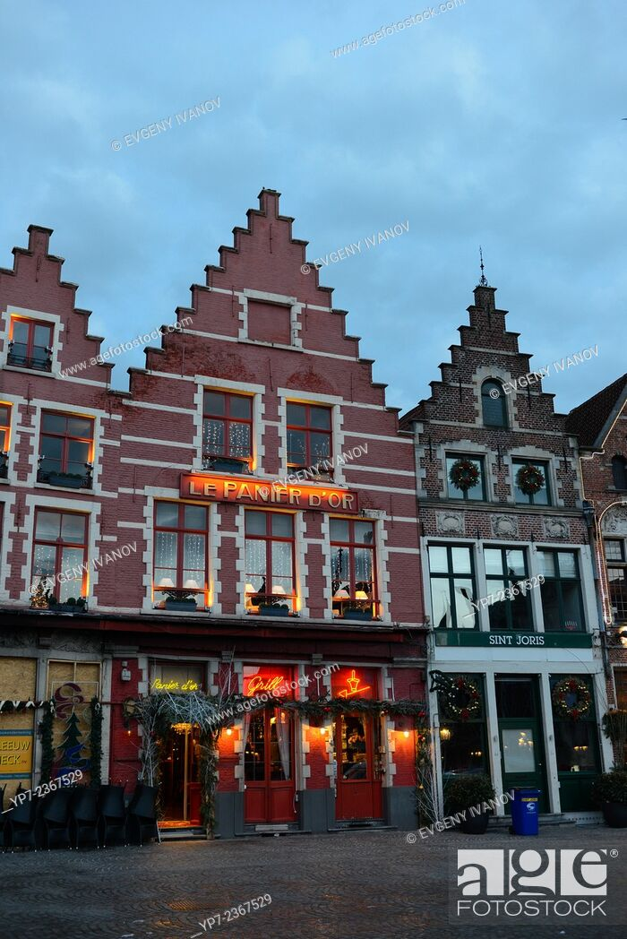 Stock Photo: Guild Houses On Market Square, Brugge.