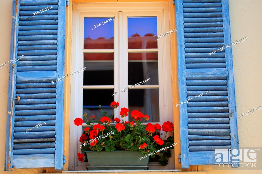 Stock Photo: Picturesque coastal village of La Colle sur Loup, Alpes-Maritimes, French Riviera, Provence-Alpes-Côte d'Azur, France.