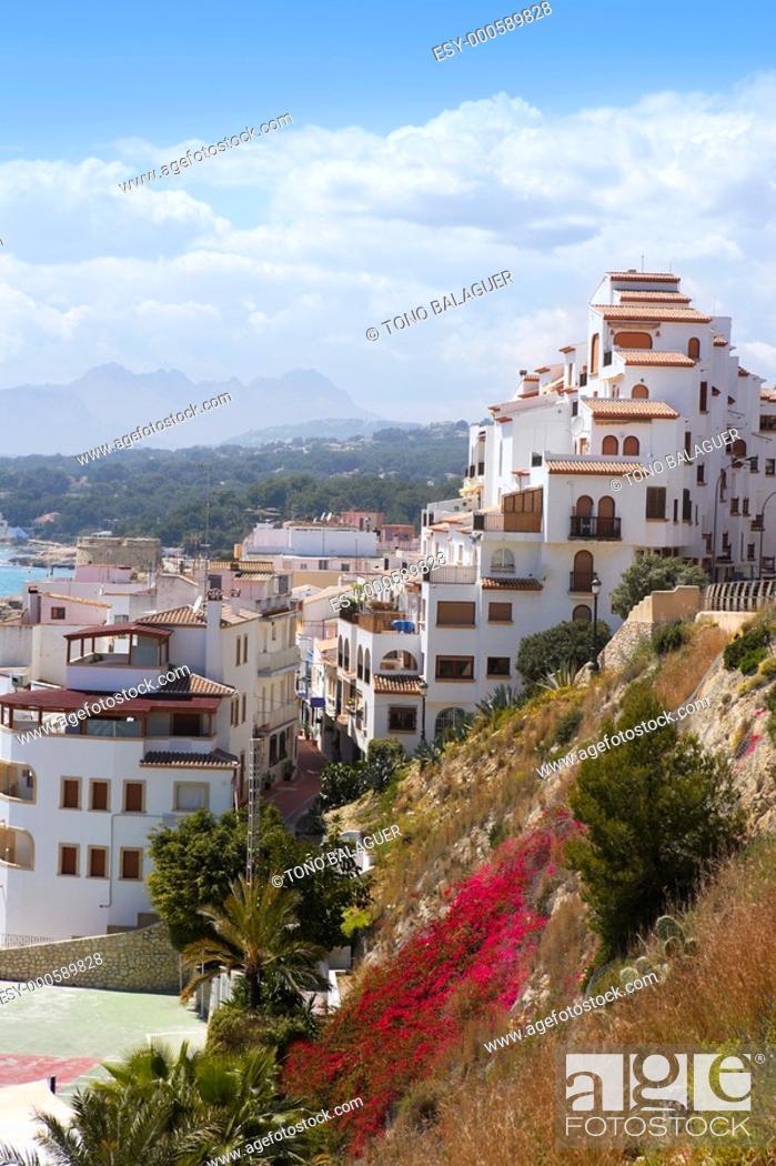 Stock Photo: moraira village mediterranean country in Spain Alicante province.