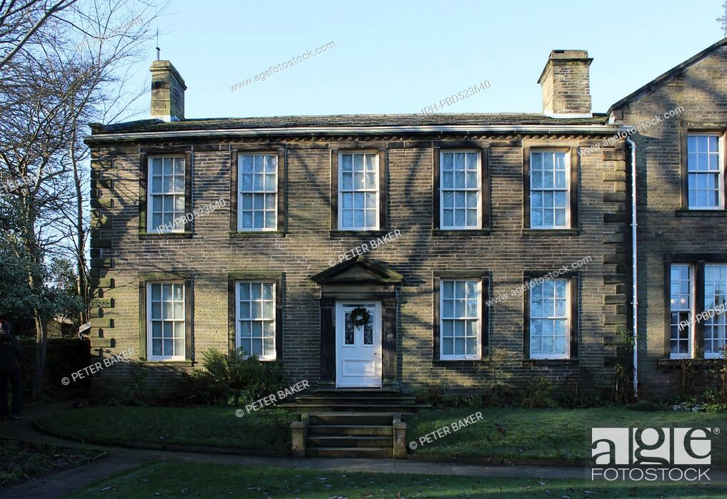Stock Photo: England West Yorkshire Haworth Home of the Bronte sisters THe Bronte Parsonage Museum .