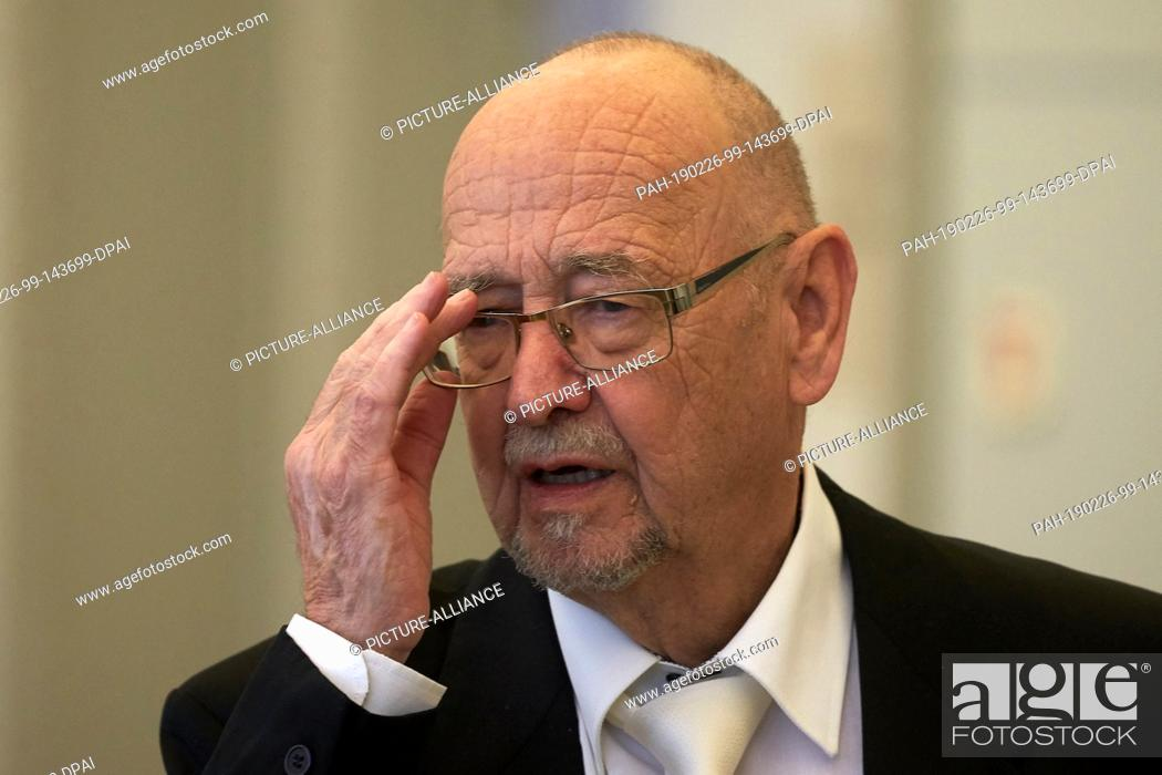 Stock Photo: 26 February 2019, Rhineland-Palatinate, Koblenz: Attorney Hans-Otto Sieg, who represents one of the accused, is waiting in the courtroom of the regional court.
