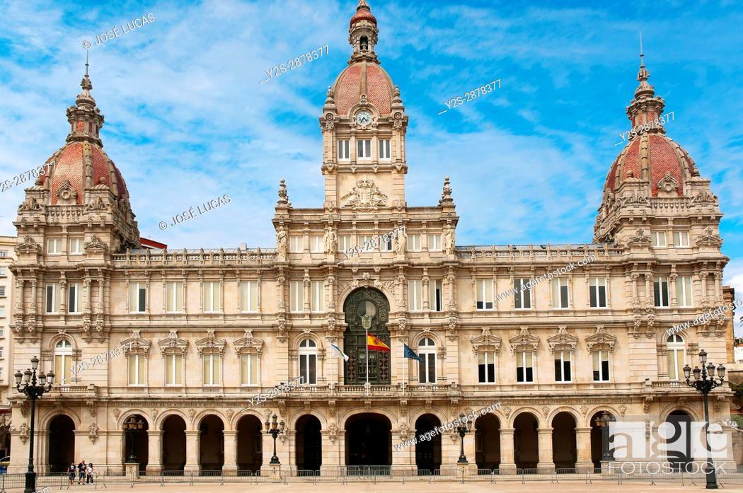 Imagen: City Hall, La Coruna, Region of Galicia, Spain, Europe.