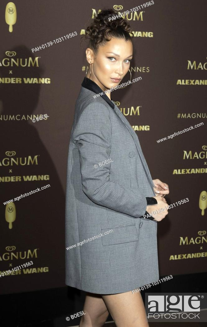 06a3745c0e96 Stock Photo - Bella Hadid attends the party of 'Magnum X Alexander Wang'  during the 71st Cannes Film Festival at L'Ondine Beach in Cannes, France,  ...