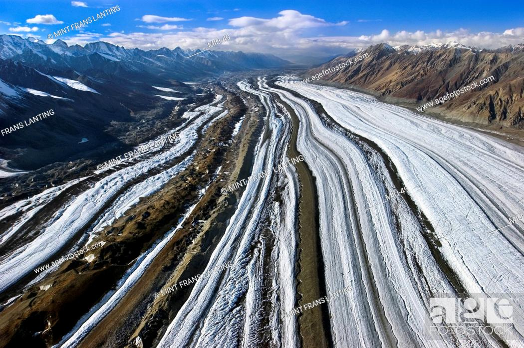 Aerial View Of Glacier In Wrangell St Elias National Park Alaska Stock Photo Picture And Rights Managed Image Pic Miu 49 Agefotostock