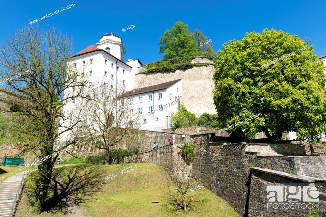 Stock Photo: The Veste Upper House in Passau.